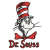 dr.Seuss Cat in the hat machine embroidery design
